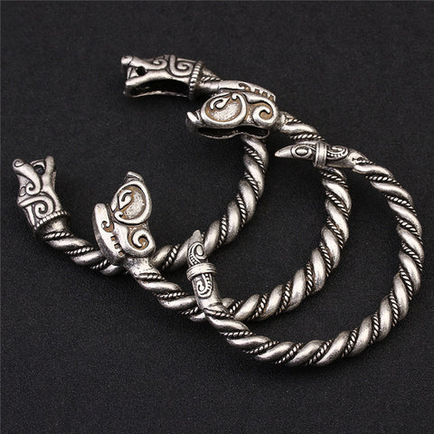 Viking Bracelet For Men Vintga Antique Silver