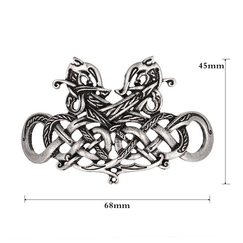 Viking Runes Double Heads Dragons Hairpin