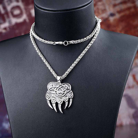 Viking Bear Paw Necklace