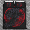 Red Moon Raven Bedding Set