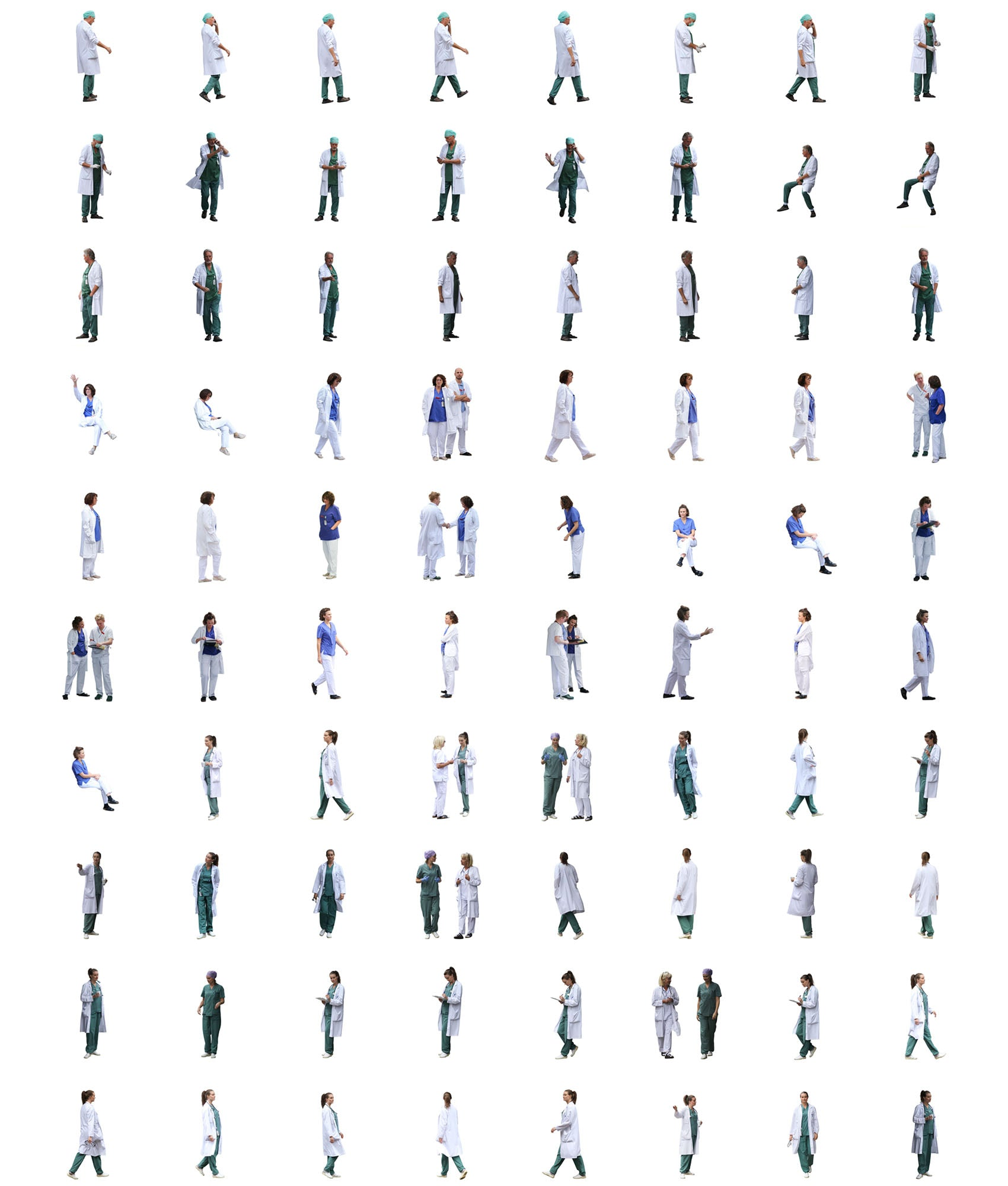 Cutout People Package - Medical / Hospital