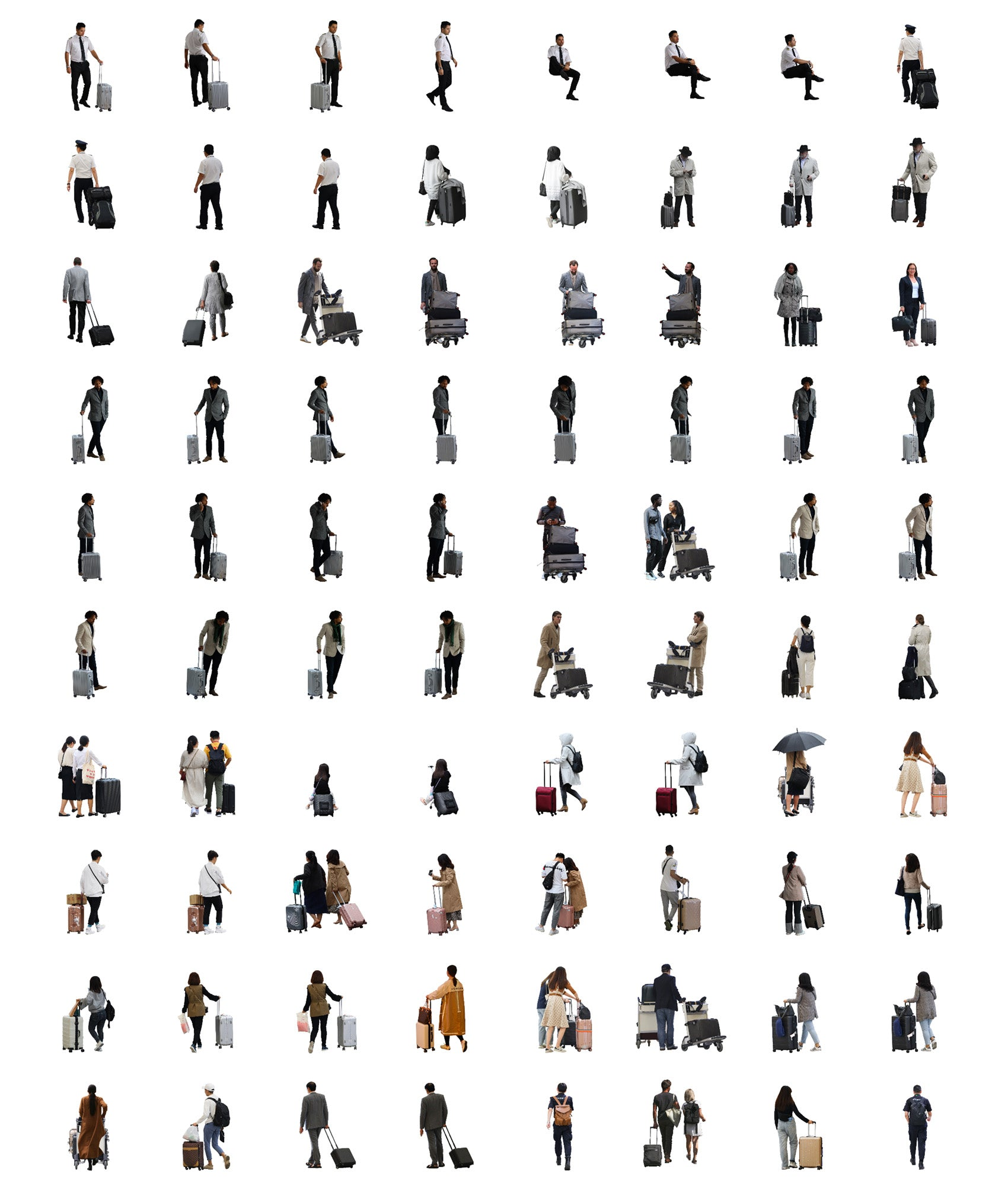Cutout People Package - Airport / Terminal