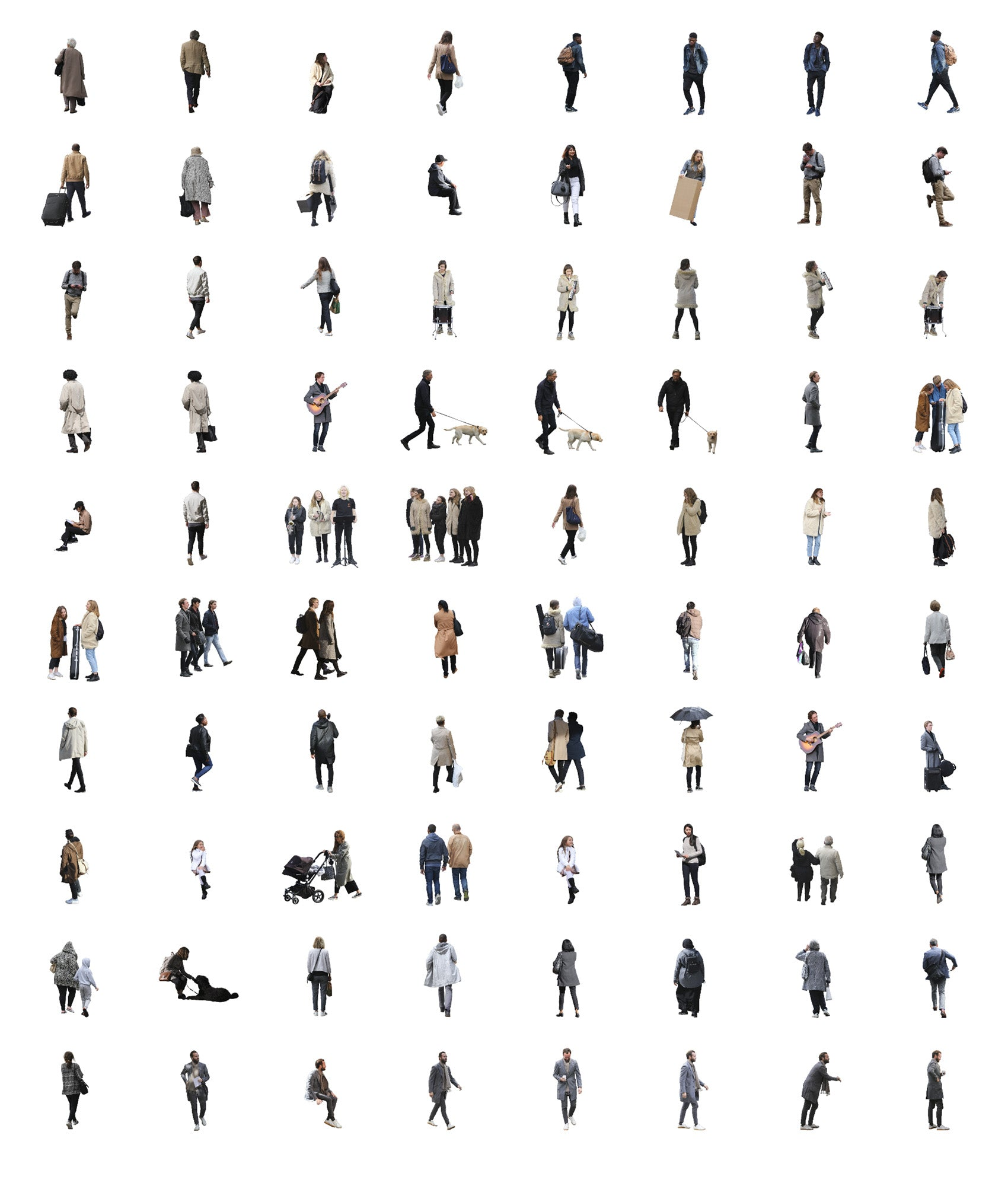 Cutout People Special - 1200 cutouts