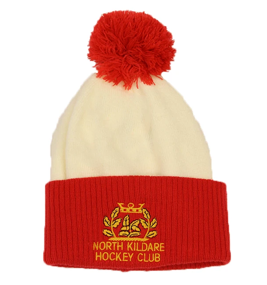North Kildare Hockey Club Bobble Hat Flat
