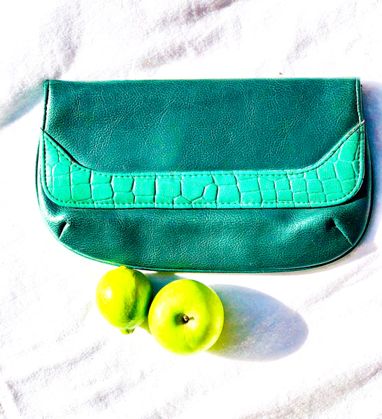 Vintage Green Clutch Bag