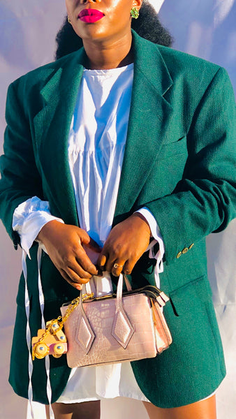 Vintage Men's Inspired Blazer - Plain Green