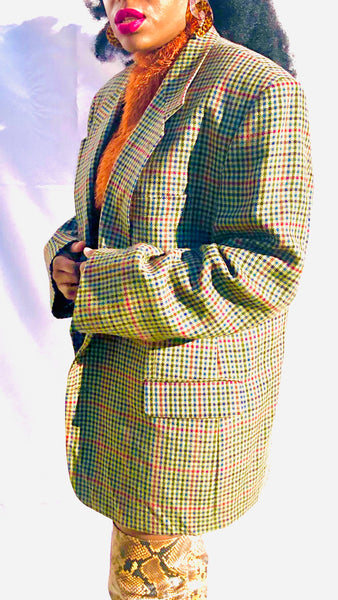 Vintage Men's Inspired Blazer- Light Brown