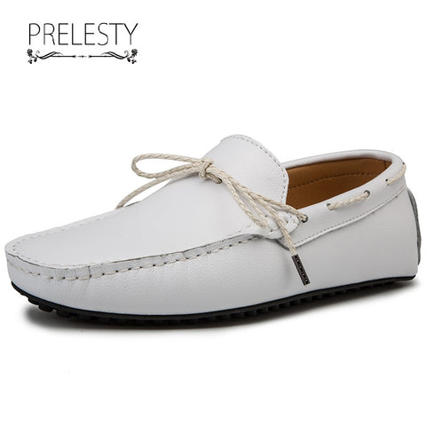 Prelesty Big Size Cool Men's Formal Slip On Boat Top Sider Shoes Gentleman Party Leather