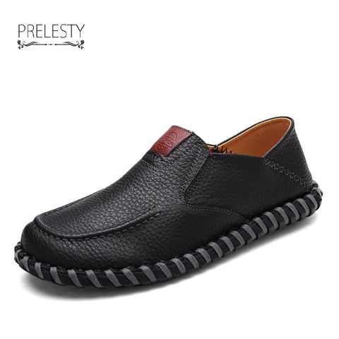 Vintage Luxury Men Casual Shoes Handmade Genuine Leather