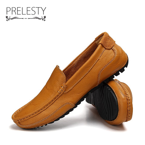 Urban Style Autumn Handmade Men Driving Shoes