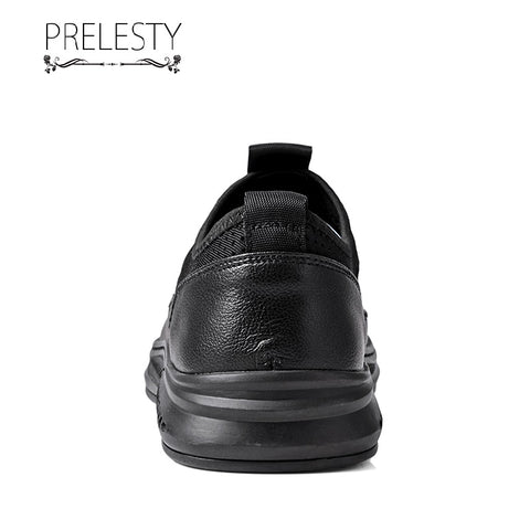 Prelesty Summer Soft Good Cow Leather New Men Sandal Shoes Beach Cool Outdoor Simple Breathable Unique Design
