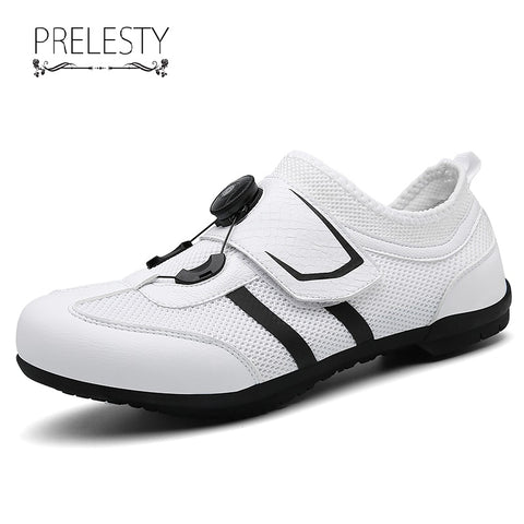 Prelesty Big Size New Men Cycling Shoes Moldable Road Bike Sneakers High Quality Durable