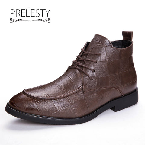 Men Genuine Leather Formal Ankle Boot