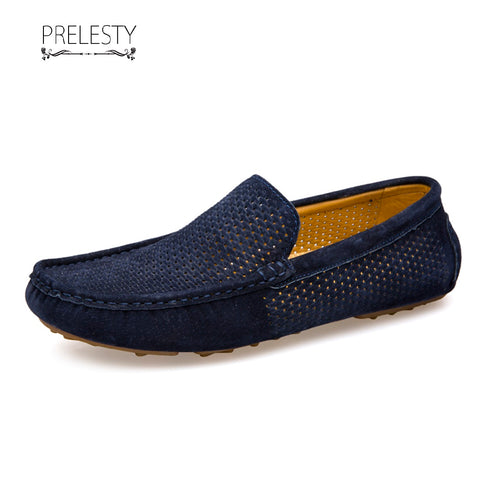 Prelesty Summer Soft Modern Hollow Out Cool Men Casual Loafer Shoes Comfortable Driving Breathable