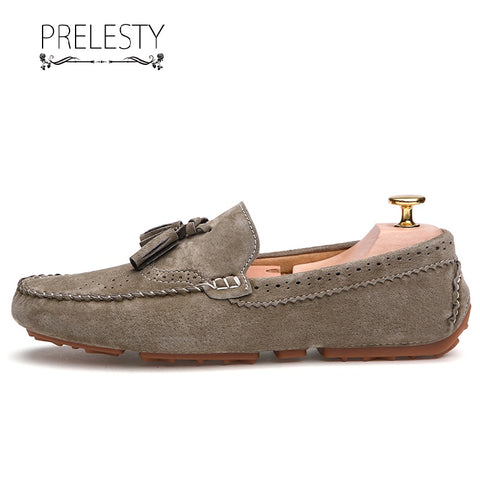 Prelesty New Urban Men Dress Shoes Formal Comfortable Tassel Loafer Leather Driving Cool Lightweight