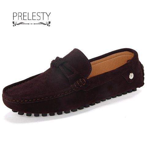 New Men Loafer Breathable Leather Moccasins Boat Shoe