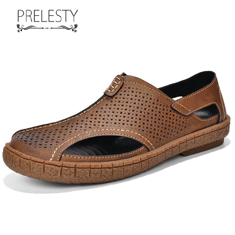 Prelesty Big Size Summer Fashion Men's Sandal Shoes Outdoor Waterproof Rubber Bottom Good Quality Classic Style
