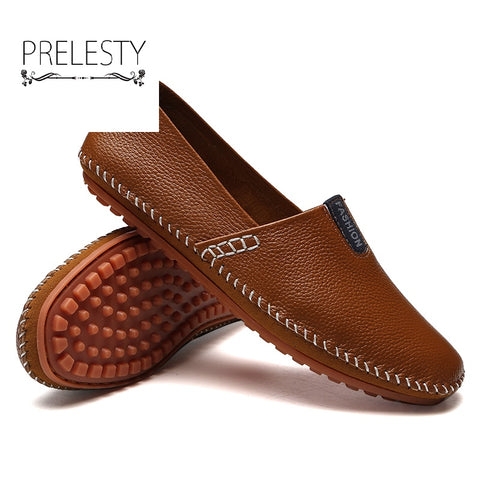 Luxury Handsome New Men Loafers Casual Summer Shoes Leather Soft Moccasins