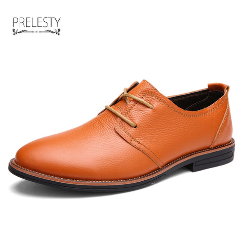 Elegant Men Genuine Cow Leather Dress Shoes Luxury