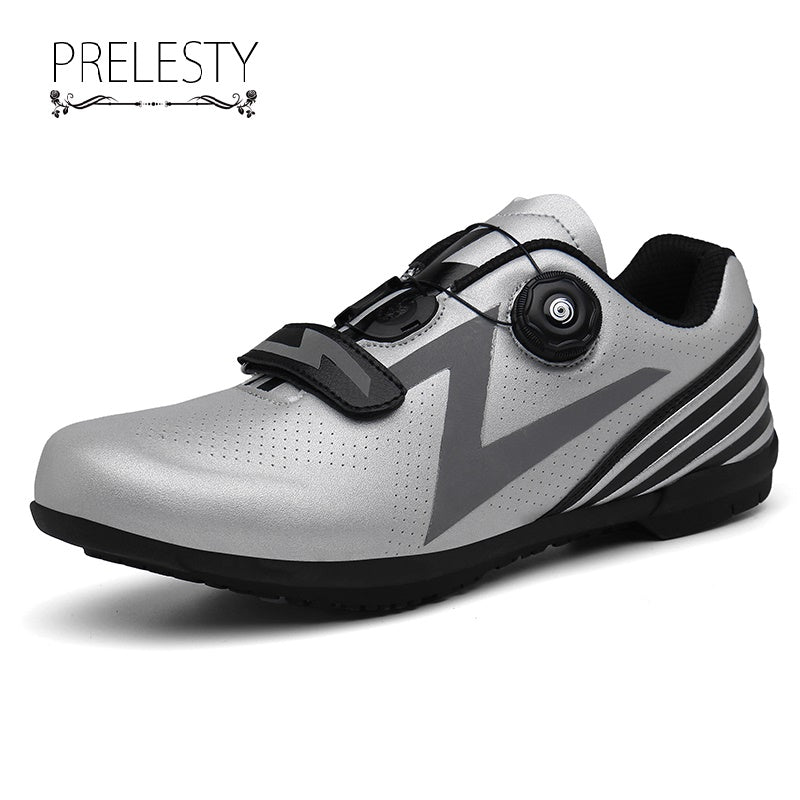 Prelesty Professional Breathable Men Cycling Shoes Moldable Road Bike Sneakers Comfortable