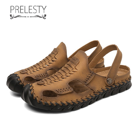 Prelesty Big Size 38-47 Summer Casual Men Sandal Shoes Non-Slip Breathable Waterproof Buckles Comfortable
