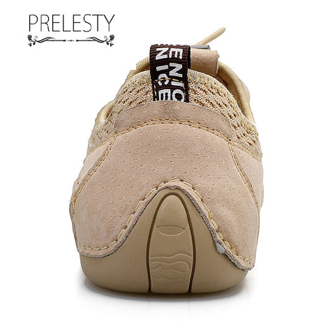 Prelesty Big Size 38-46 Summer Comfortable Fashion Casual Moccasin Loafer Handsome Men Driving Shoes Lightweight