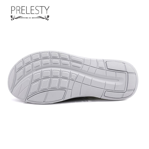 Prelesty Summer Fashion Casual Men Sandal Shoes Knitted Non-Slip Lightweight Breathable Waterproof Good Durable
