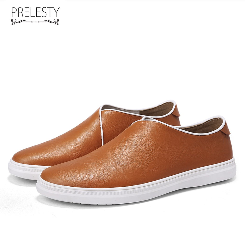 e8f0873d244c New Leather Shoes Men Casual Genuine Cow Leather Loafers Slip On Formal  Driving Soft Footwear