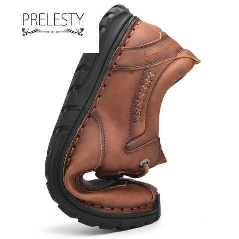 Prelesty Fashion Soft Men Formal Dress Shoes Genuine Leather High Quality Comfortable Wear
