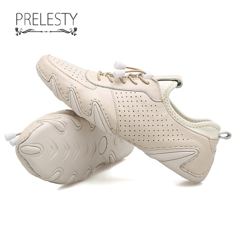 Prelesty Classic Design Casual Simple Cow Leather Men Slip On Loafer Driving Shoes