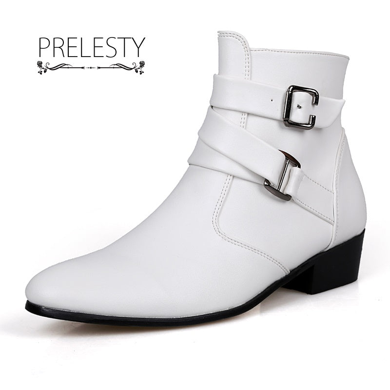 Plus Size Elegant Mens Ankle Boots