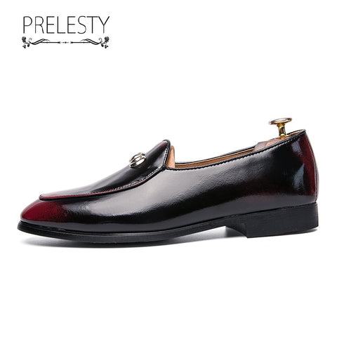 Prelesty Men Formal Dress Shoes Metallic Smart Party Business Leather Shiny Handsome