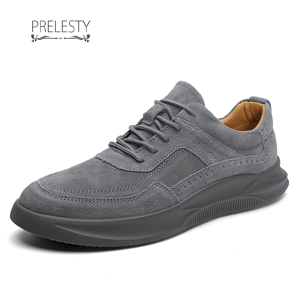 Prelesty New Suede Leather High Quality Fashion Hip Hop Sneaker Shoes