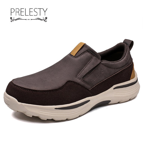 Prelesty Men's Casual Loafer Shoes Driving Comfortable Rubber Outsole Height Increasing