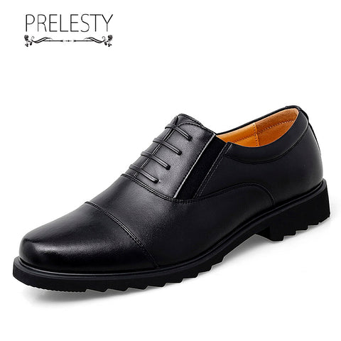 Prelesty Classic Fashion Men Formal Shoes Brogues Design Durable Office Business Comfortable Party