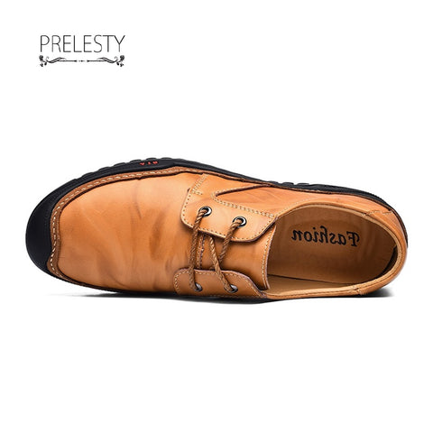 Prelesty Gentlemen Men Formal Shoes Business Genuine Leather Oxford Dress Footwear