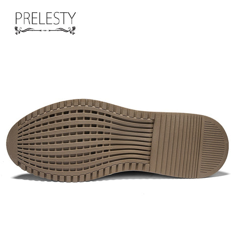 Prelesty Italian Fashion Men Formal Shoes Business Rubber High Quality Breathable Classic