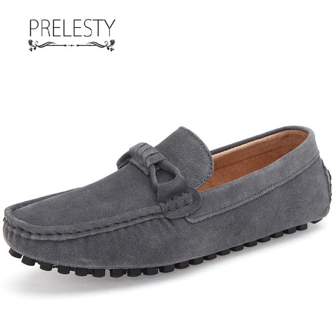 Prelesty Trendy Men Formal Shoes Slip On Party Cool Suede Leather Dress Business Handsome