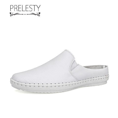 Prelesty Big Size Summer Classic Comfortable Backless Men Loafer Shoes Casual Easy Slip On Wear Breathable