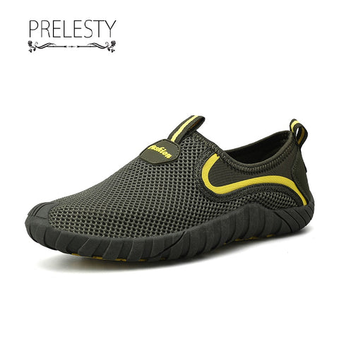 Prelesty Men's Summer Breathable Holes Casual Slip On Shoes Comfortable