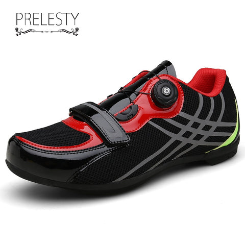 Prelesty Big Size Fashion Men Outdoor Sport Bicycle Shoes Bike Professional Racing Road