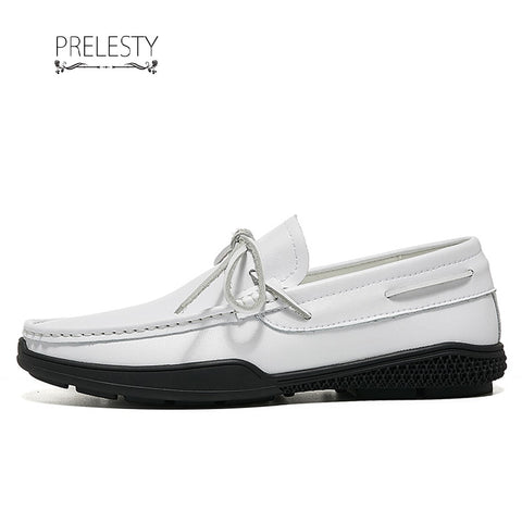 Prelesty Urban Men Formal Boat Top Sider Shoes Gentleman Fashion Party Cool Leather