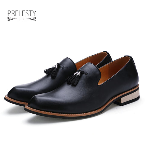Casual Party Dress Leather Flats Shoe Oxfords Tassel Loafers