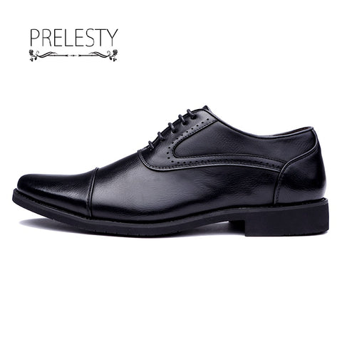 High Quality Lace Up Men Leather Shoes Wedding Party Office Wingtip Brogue