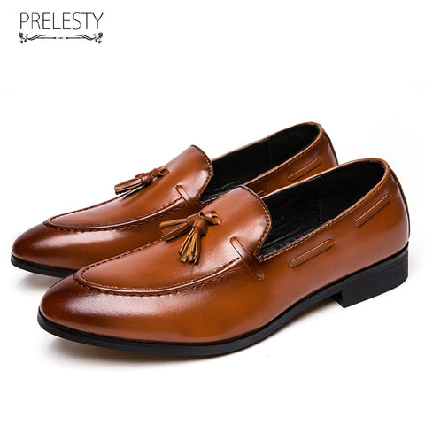 New Classic Elegant Italian Men Penny Loafer Formal Dress Wedding Shoes Luxury Style