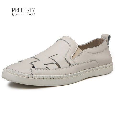 Prelesty High Quality New Fashion Formal Student Loafer Shoes Cow Leather