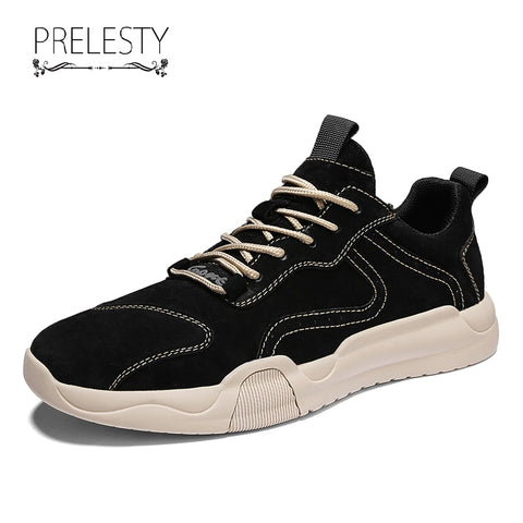 Prelesty Luxury Italian Fashion Men Formal Shoes Business Wedding Party Soft Rubber Handsome