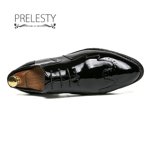 Vintage Design Men's Patent Leather Business Shoe
