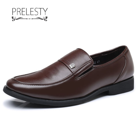 Prelesty New Italitan Men Formal Office Slip On Shoes Business Smart Leather Dress Meeting