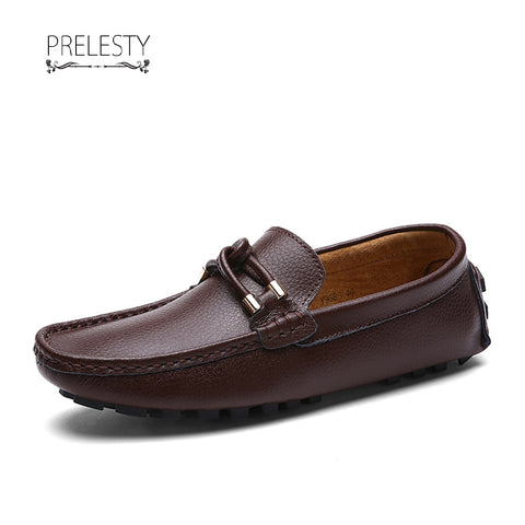 Prelesty Autumn Cool Classic Men's Loafer Casual Genuine Leather Men Driving Shoes